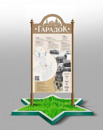 Эскиз знака памятных мест Городка